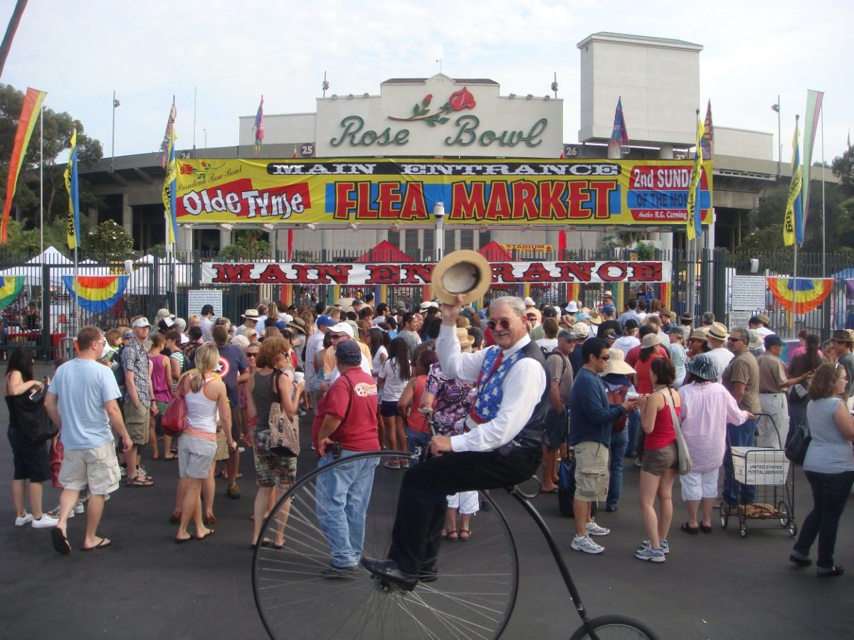 Every month, the flea market draws so many shoppers, including actors and interior designers.
