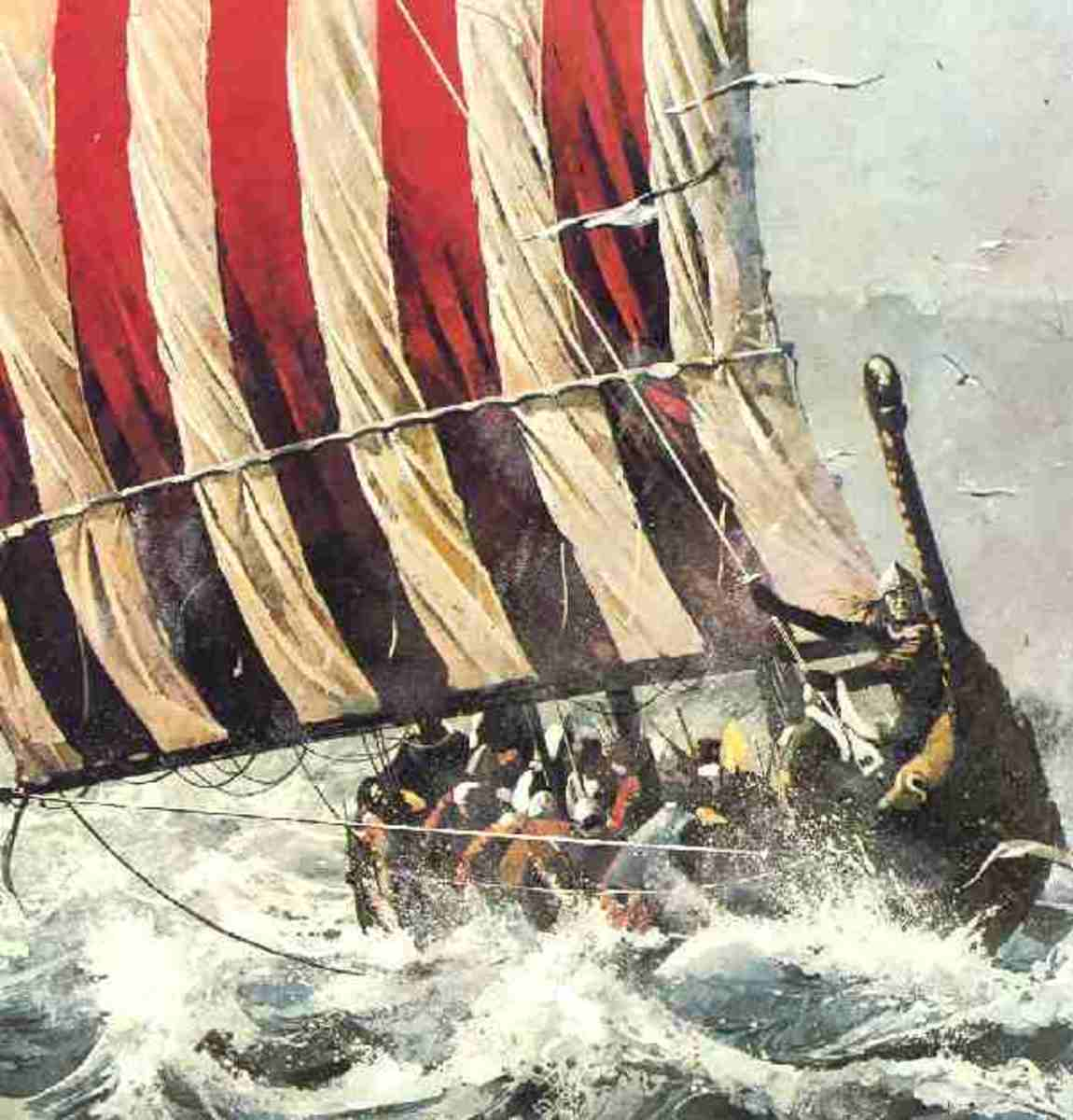 Battling the waves west across the North Sea - what began originally as a vengeance trip turned into colonisation, settlement and assimilation (with the language as well as the culture and blood ties)