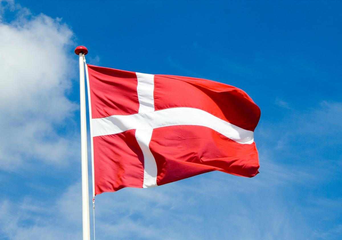 The Danish flag, the Dannebrog traditionally originates from a banner dropped from heaven to rally Danish warriors during a battle fought in the 13th Century in what is now Estonia. The Danish royal line goes back further than any other in Europe