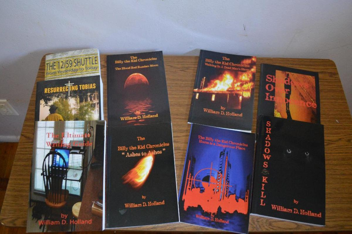 All self-published through Amazon