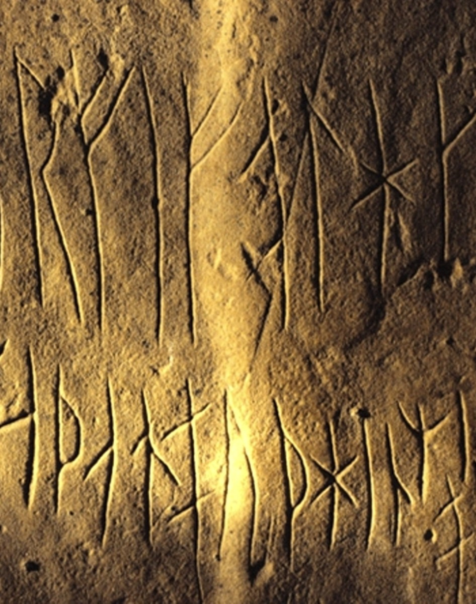 These particular runes can be seen on Orkney, although the character is the same as those brought by the Aengle, Jutes and Saxons in the 5th Century AD