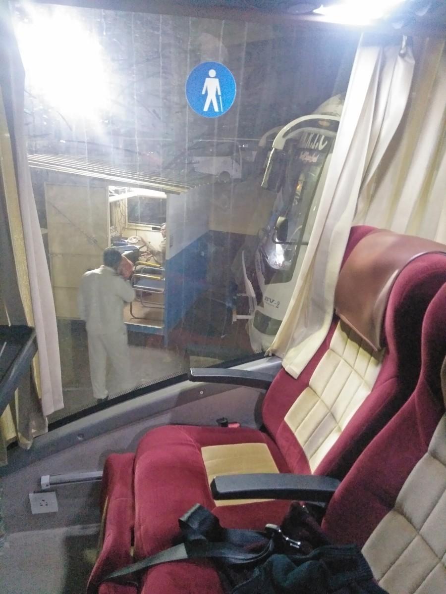 Bus window seat