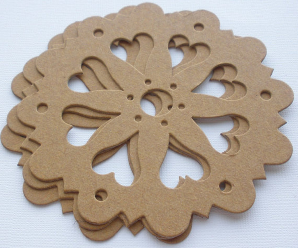 Cutting an intricate shape like this dollie-wheel need a more sophisticated cutter that uses a die or template.