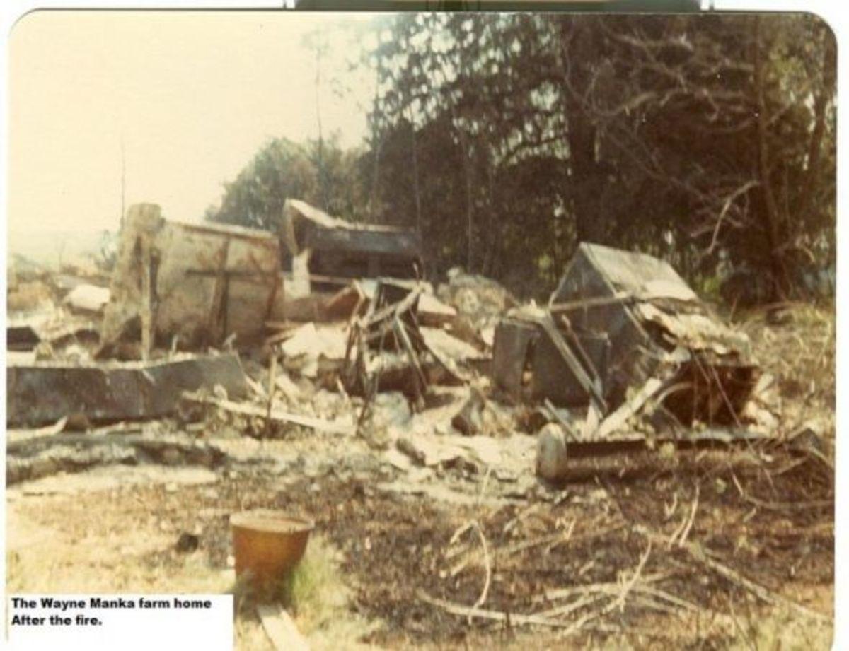 Wayne Manka home after the fire