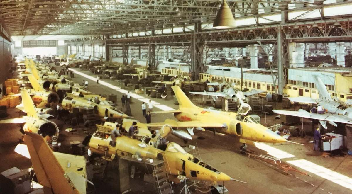 Q-5 planes under construction in China