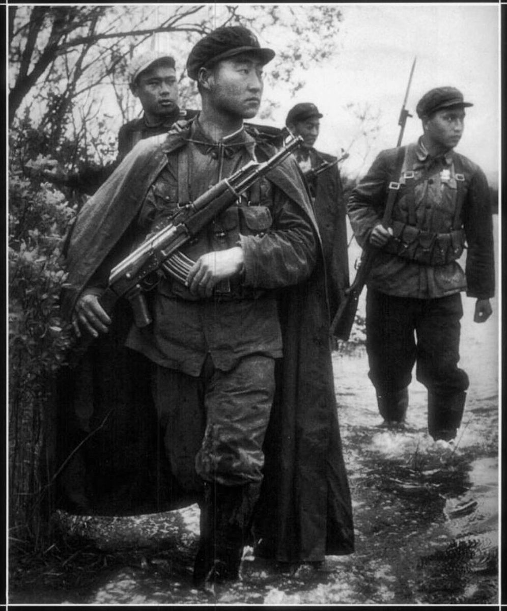 Chinese infantry on patrol in 1969 during the Sino-Soviet Border War