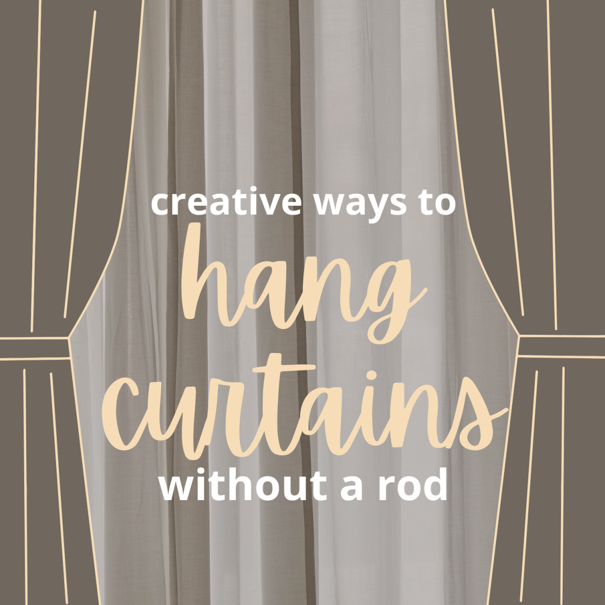 5 creative ways to hang curtains without a rod.