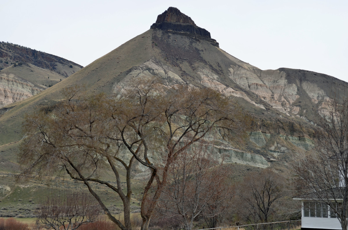 View of Sheep Rock from the Cant Ranch.