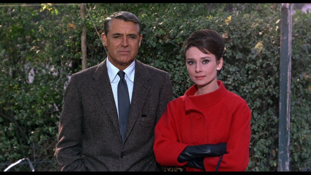 Cary Grant with Audrey Hepburn (right) in 1963.