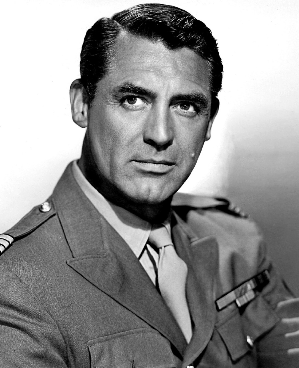 In this photo, actor Cary Grant looks very serious but he was not short on talent. Cary will always be one of the best actors who ever lived.