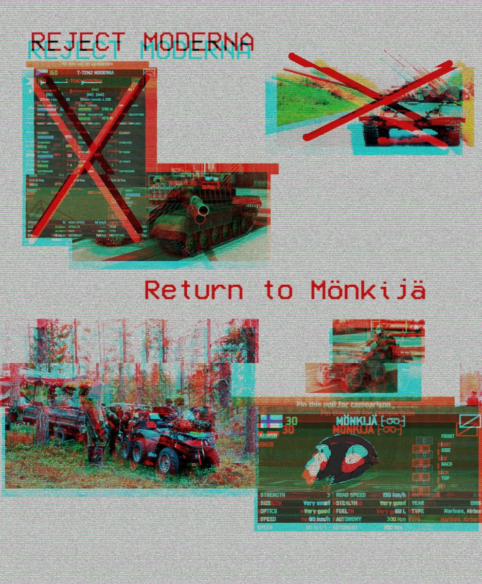 The Wargame take on the Reject modernity, return to monkey meme