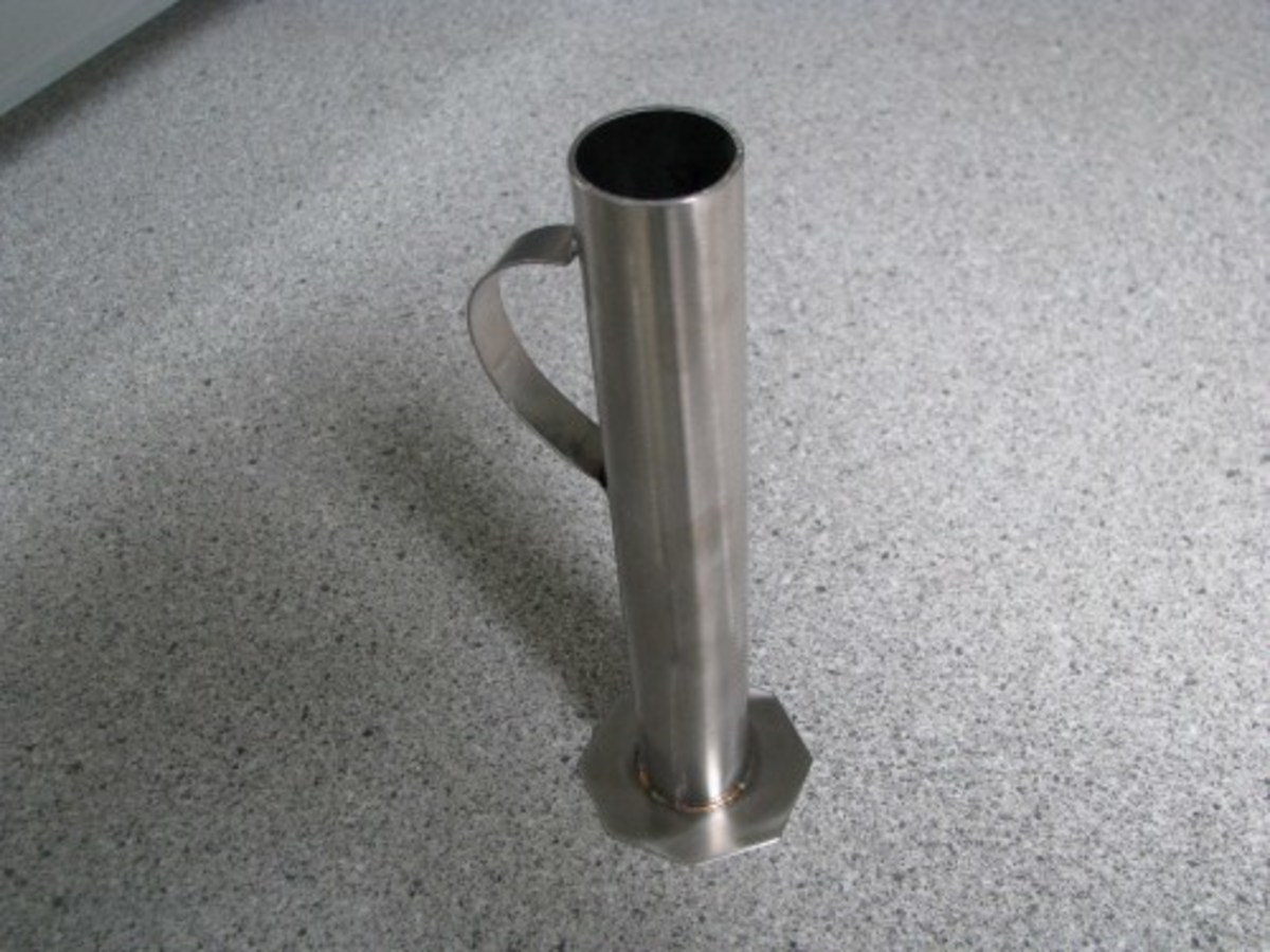 Stainless Steel hydrometer cup from Cottage Craft Works.