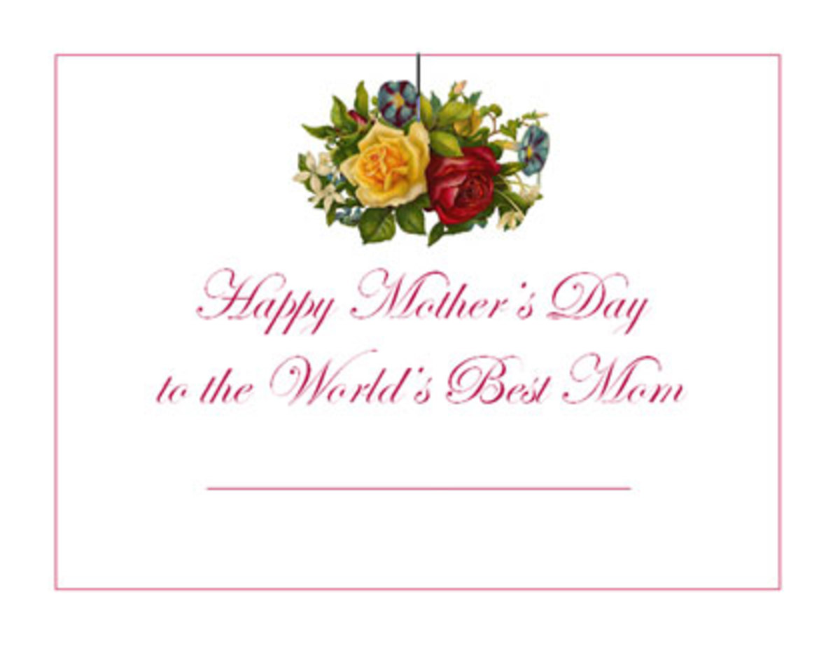 Free Mothers Day printable certificate template #2 -- click the link in the left column to download