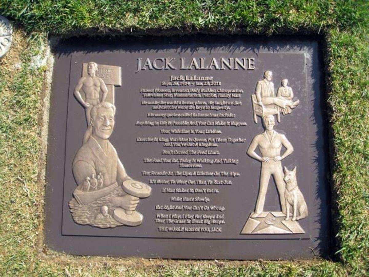 Jack LaLanne's grave marker