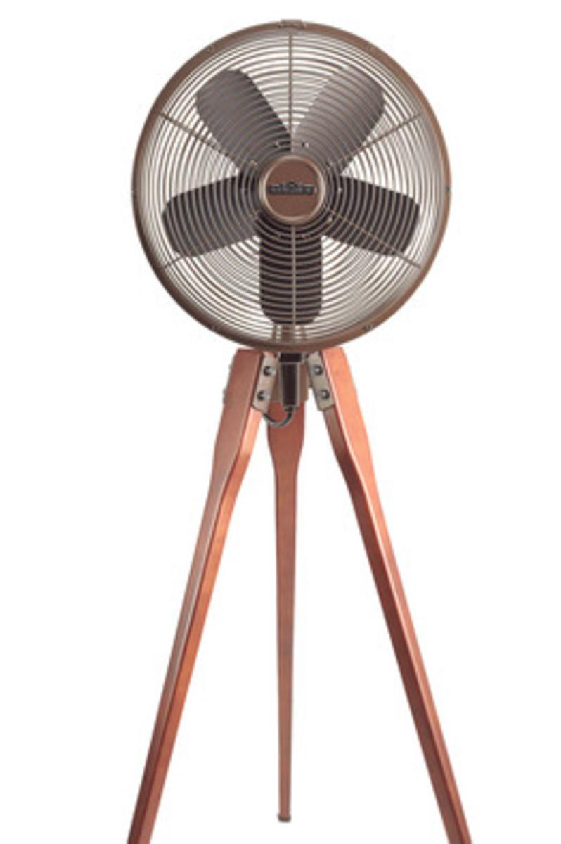 A standing fan worthy of Restoration Hardware