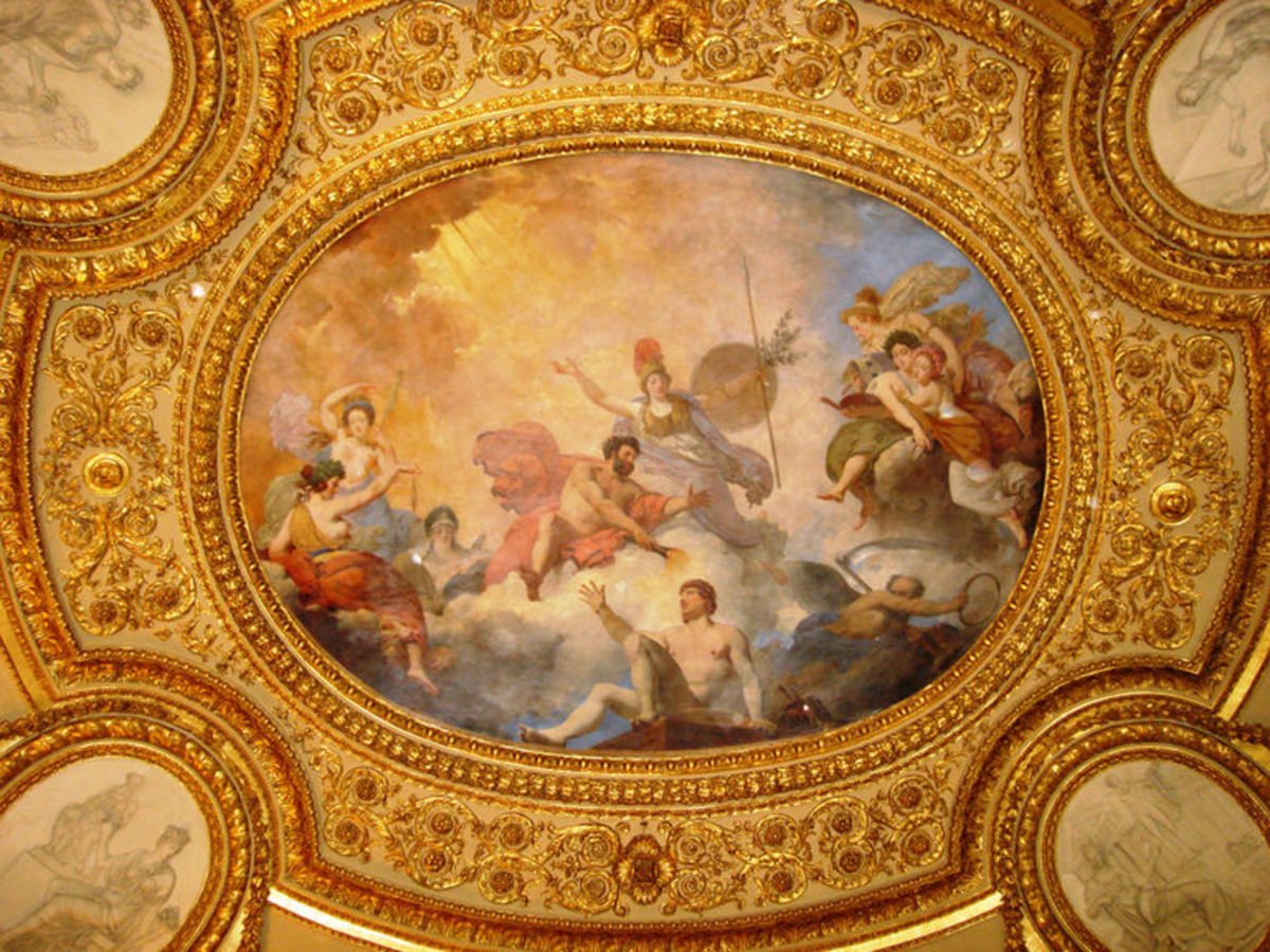 Ceiling panel inside the Louvre