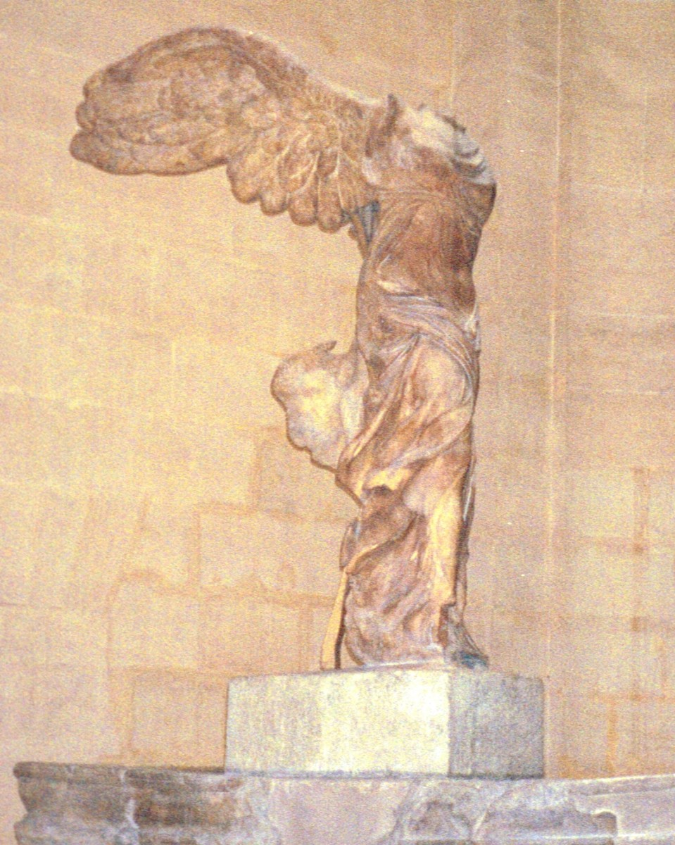 Winged Victory of Samothrace, 190 B.C. has graced the Louvre since 1884