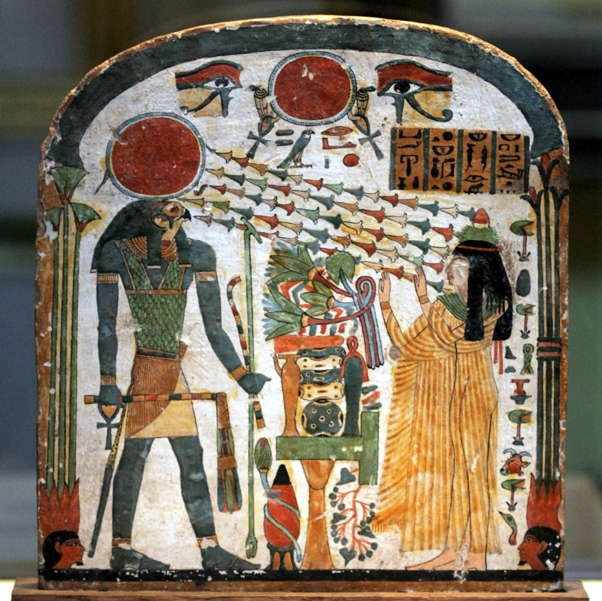 Funerary Stele of Taperet on painted wood  900-800 B.C.