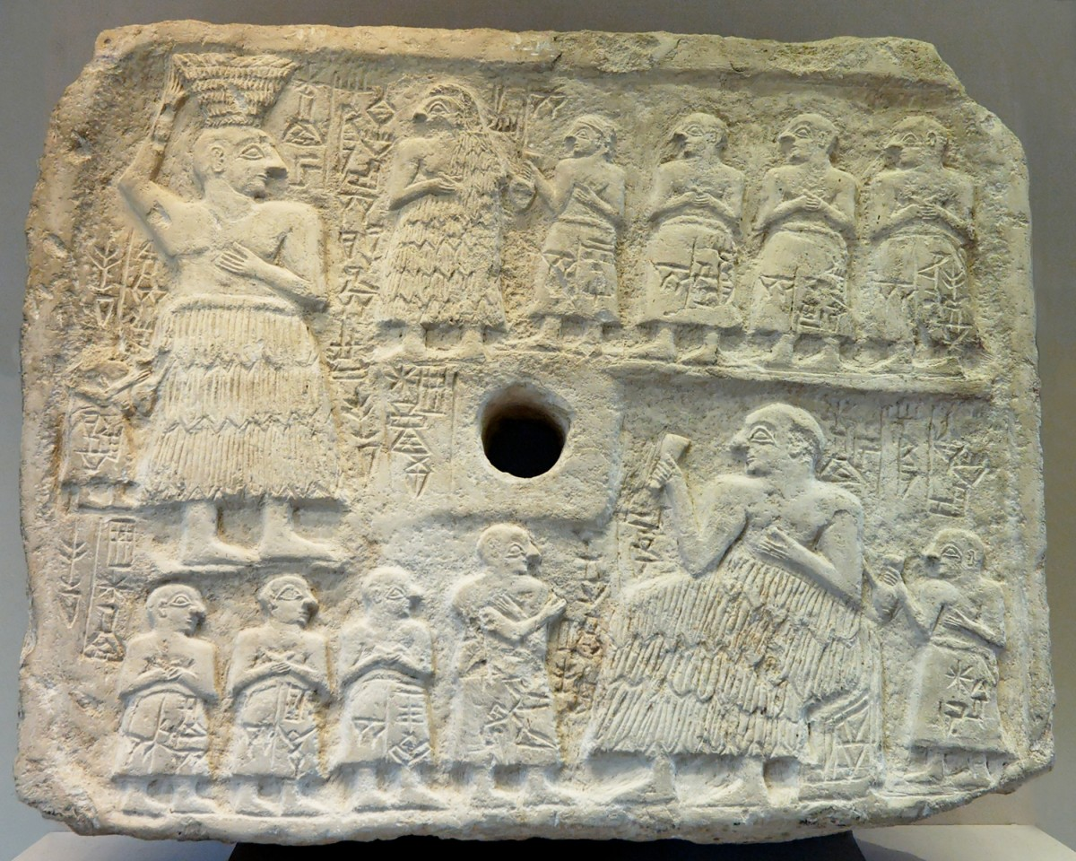 limestone relief of Ur-Nanshe, founder of I Dynasty of Lagash  2500B.C.