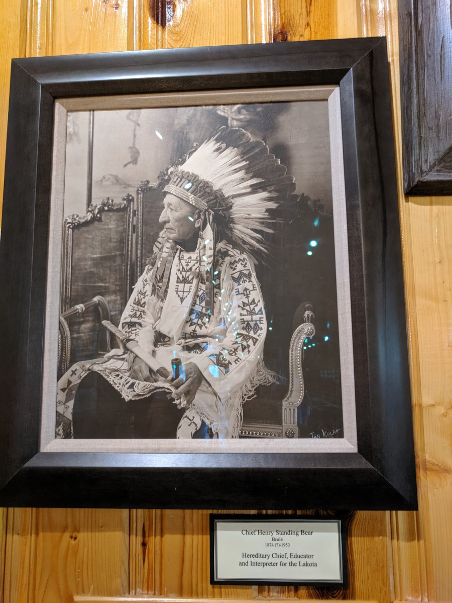 Sioux Chief Henry Standing Bear was a major force behind the movement to create the Crazy Horse Memorial.