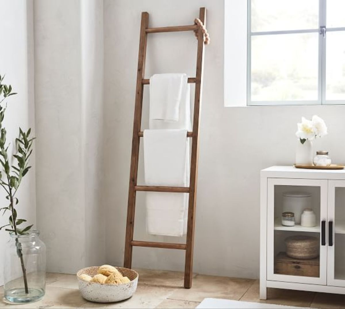 It makes a rustic ladder to hang towels in the bathroom.