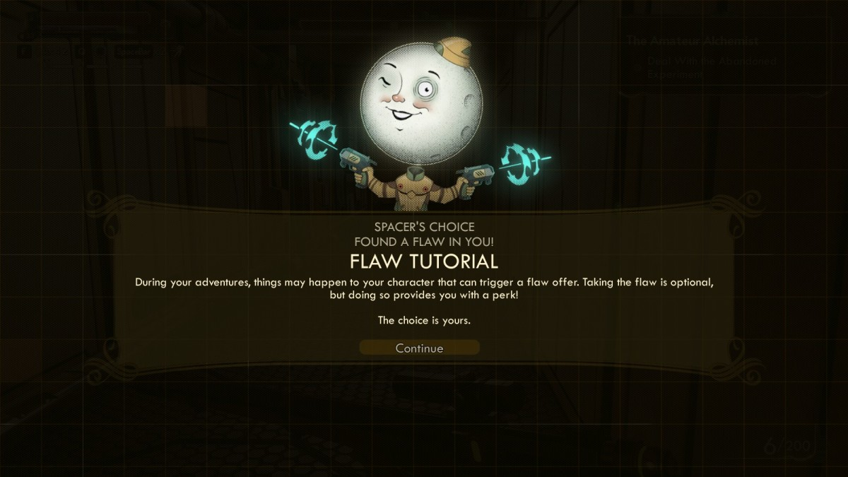 Make sure that you take every single flaw you receive, because those perk points are indispensable.
