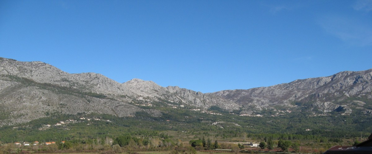 The mountains is a view from my home
