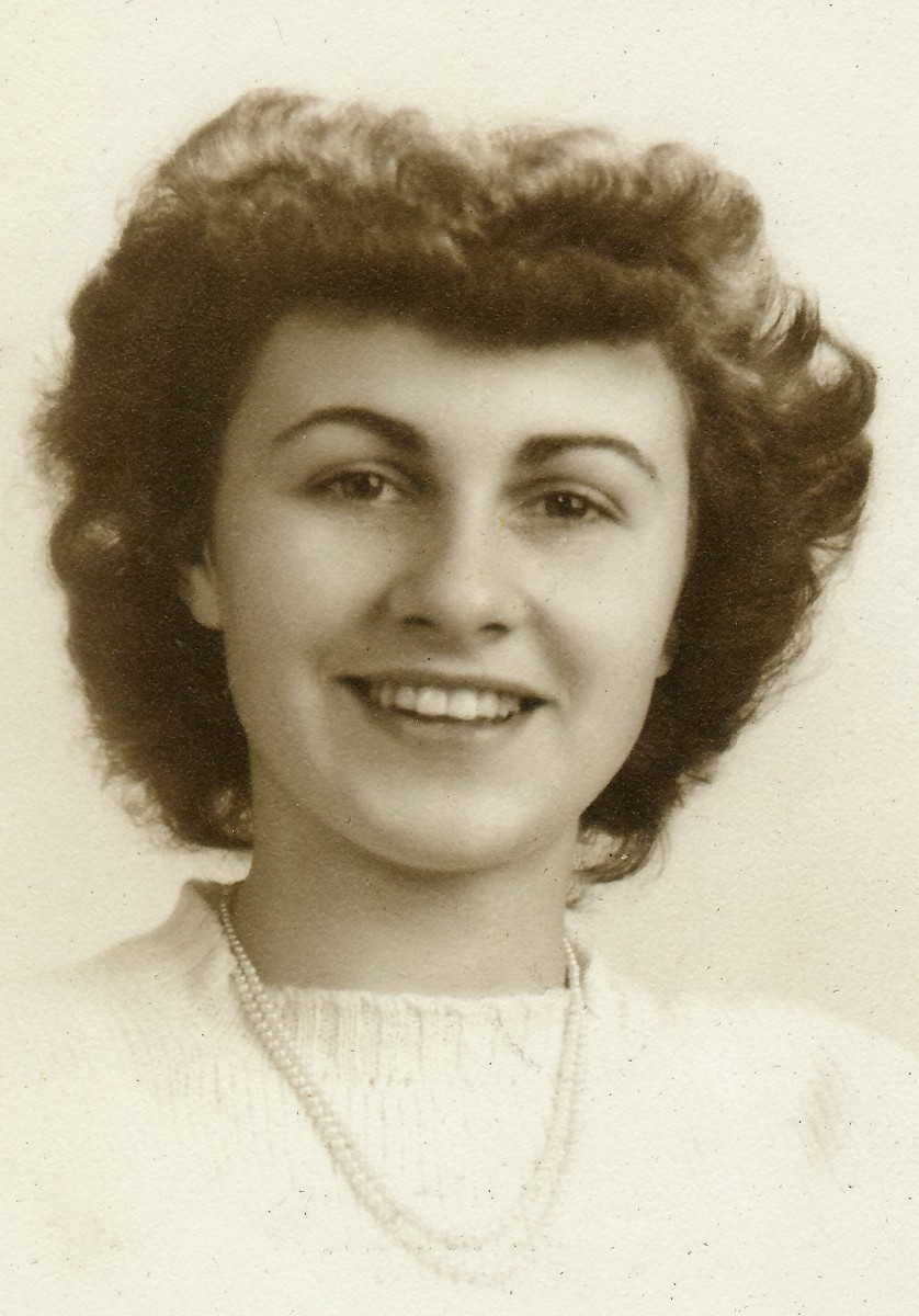 My mother's best friend's senior photo from her high school days in 1943.  Lois Petry