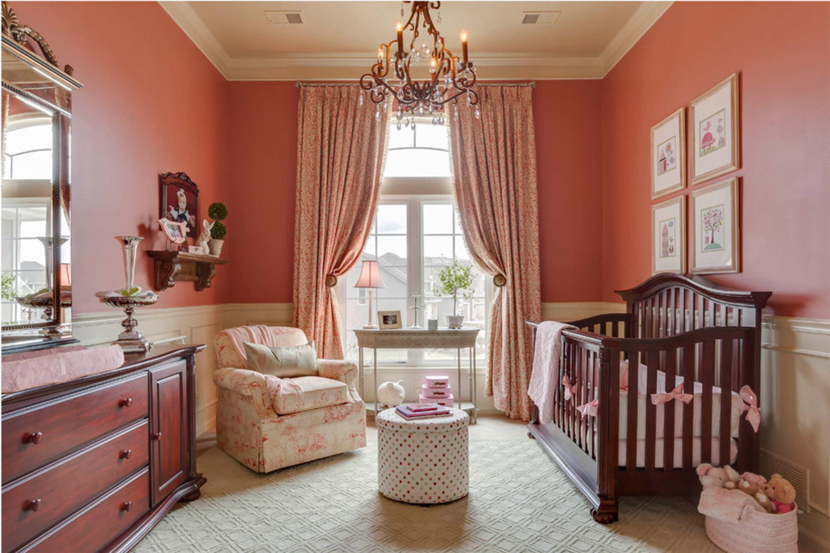 Easy and inspiring coral paint ideas for the baby's room.