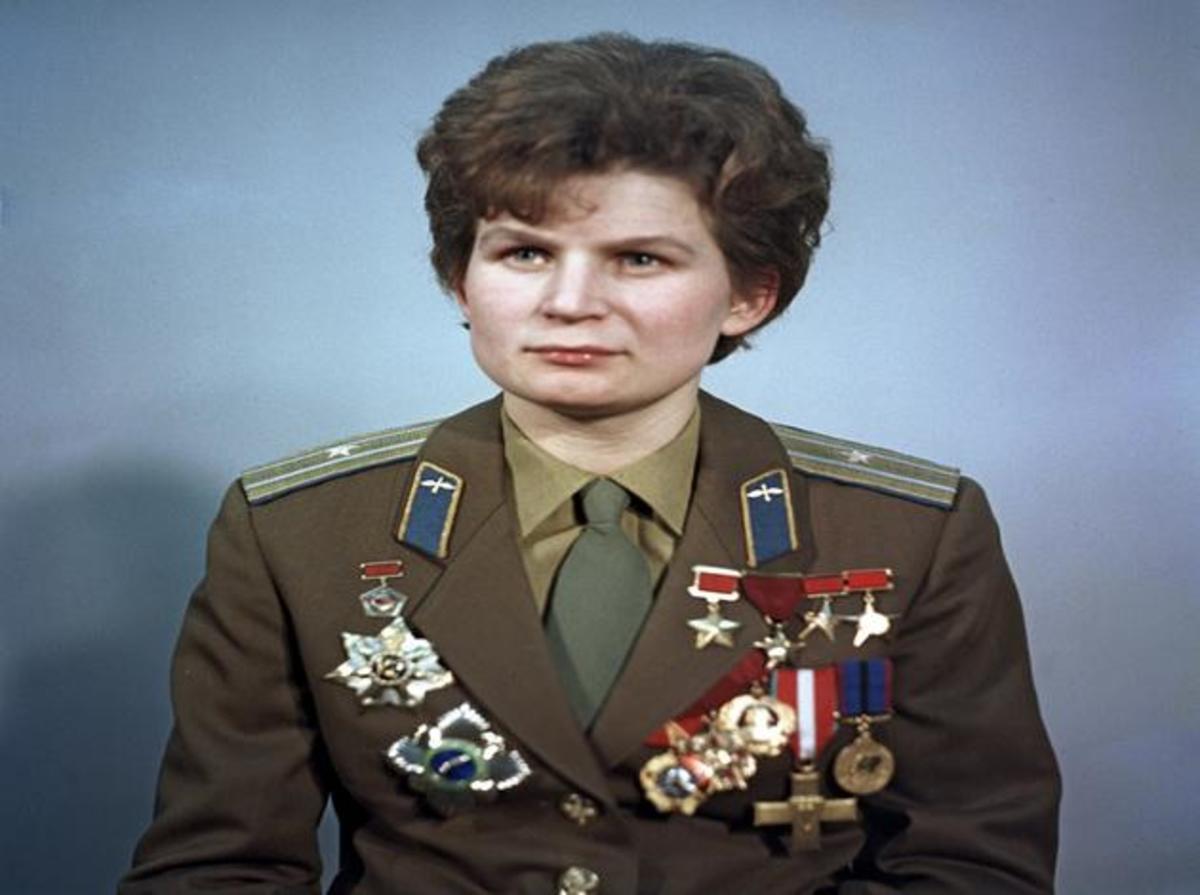 Valentina Tereshkova with all her awards