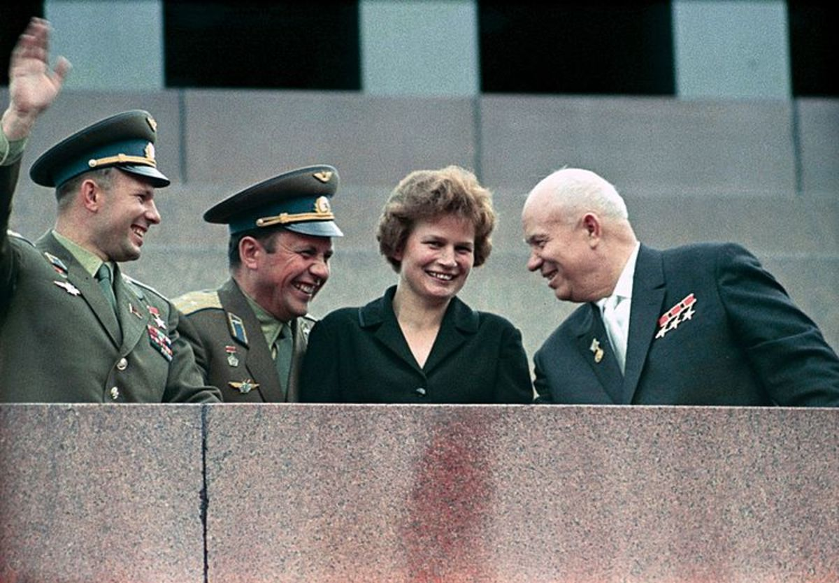 Valentina Tereshkova with Russian Premier Khrushchev