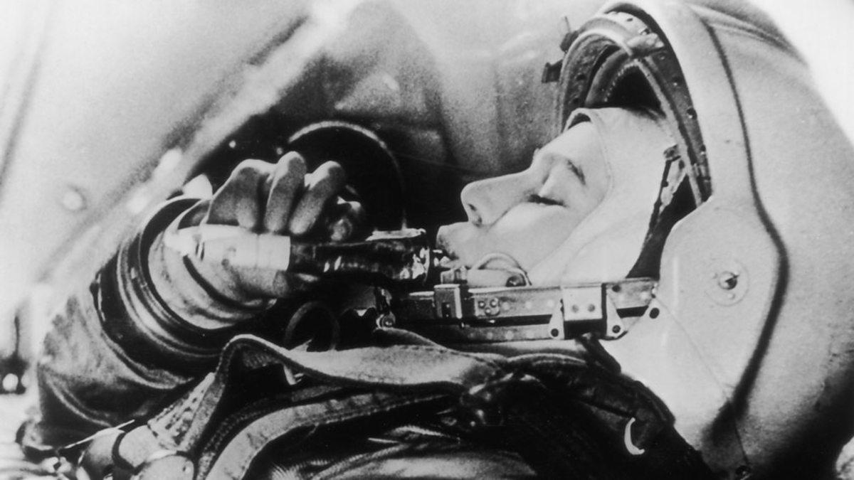 Valentina Tereshkova during space flight