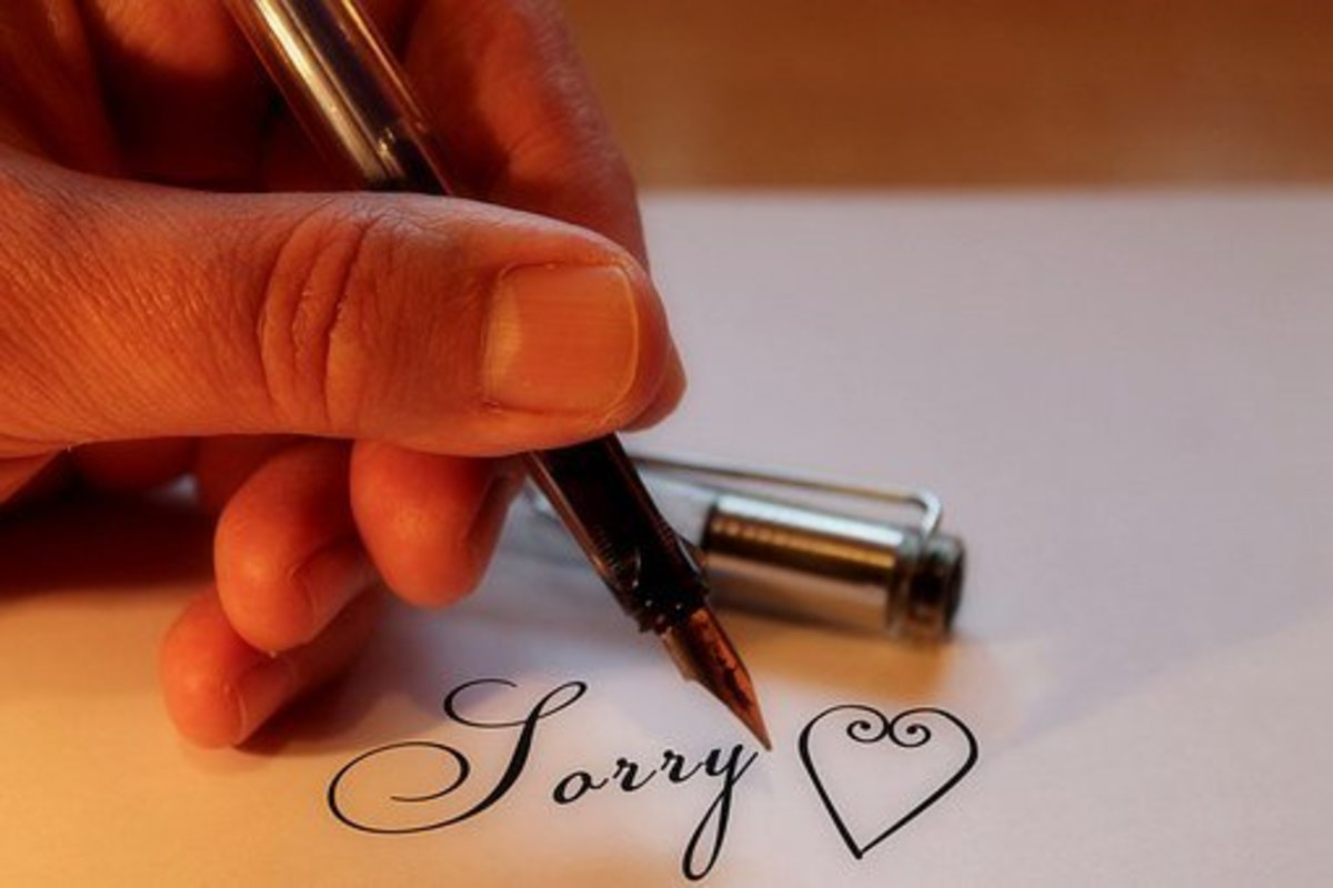 It helps to say sorry to your spouse