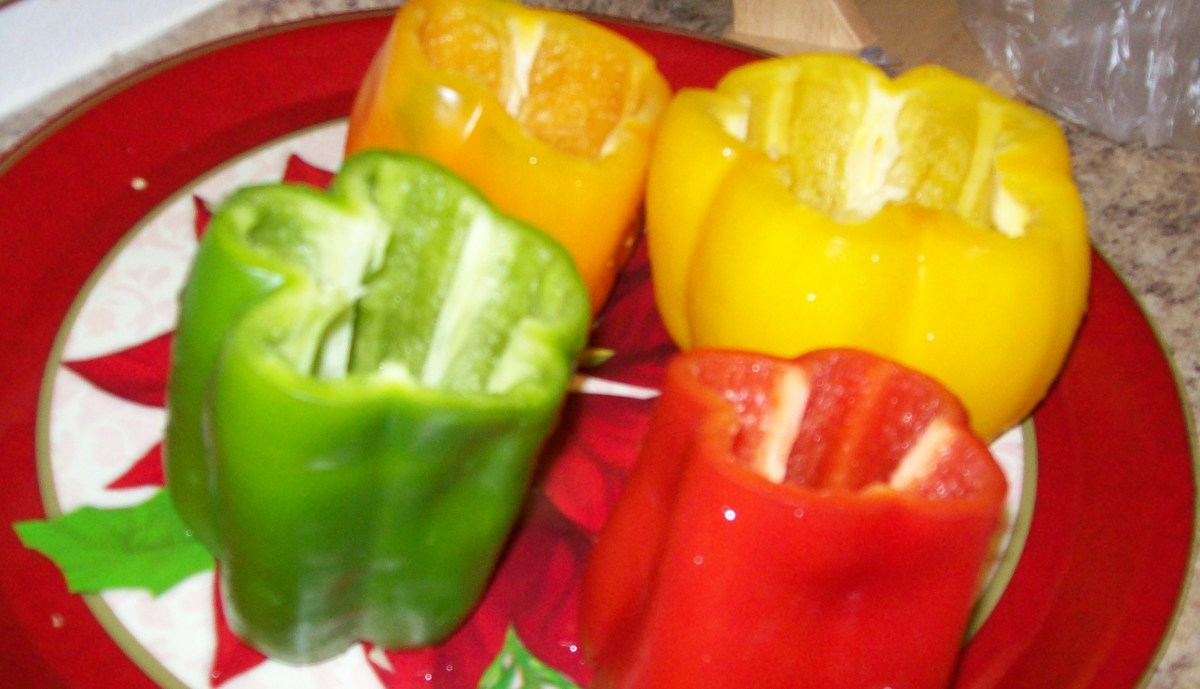 Cut bell peppers