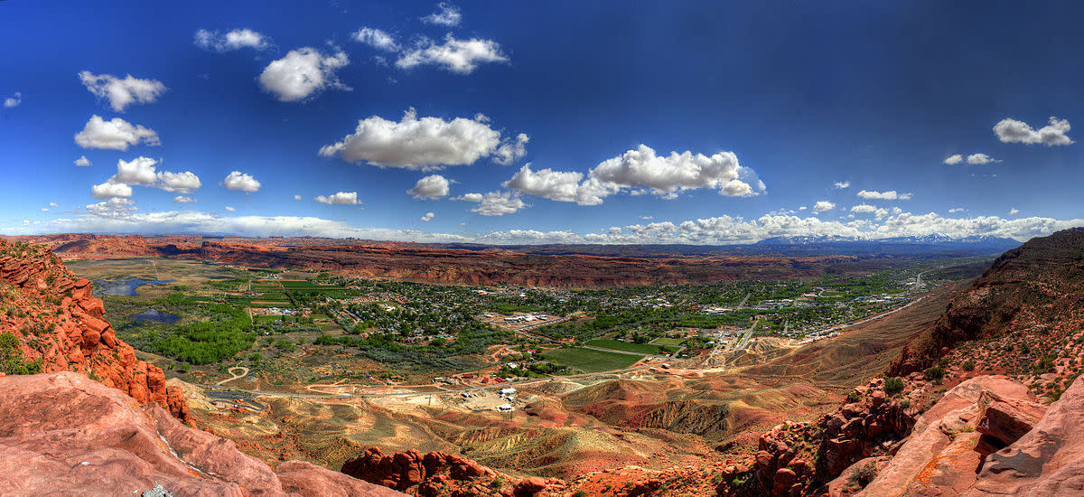 Moab is a city in Grand County, in eastern Utah.
