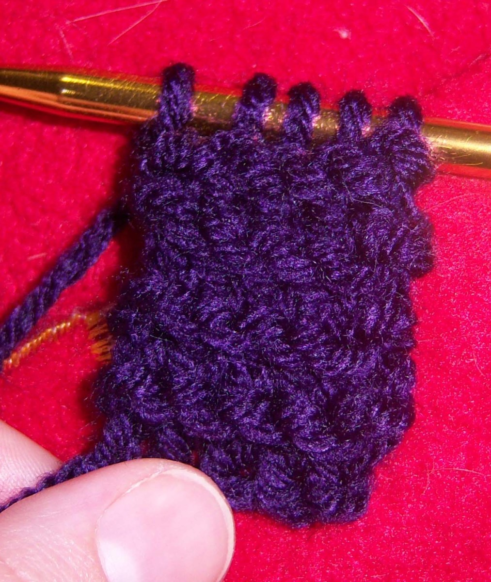 The garter stitch.