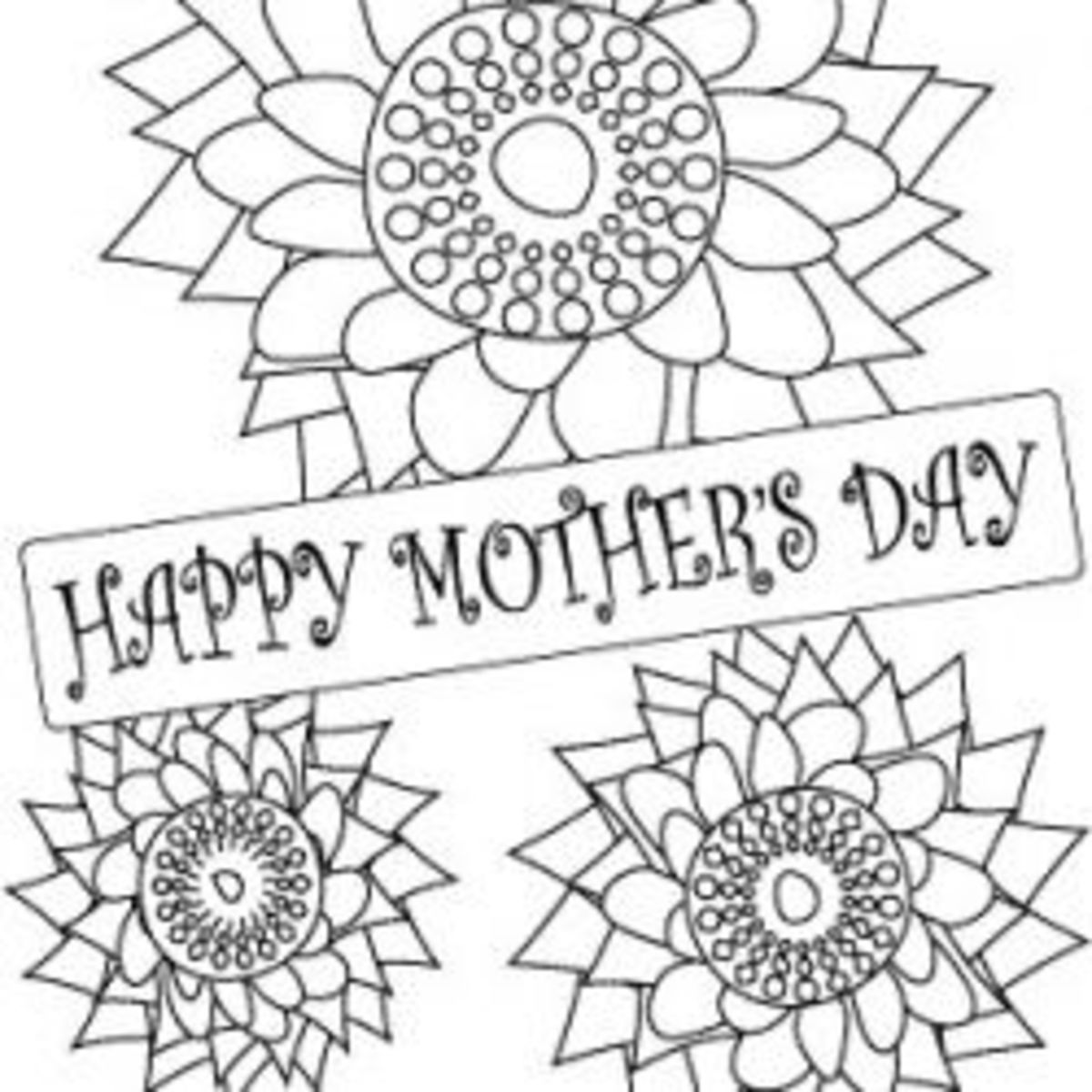 Mothers day coloring pages hubpages for Mothers day adult coloring pages
