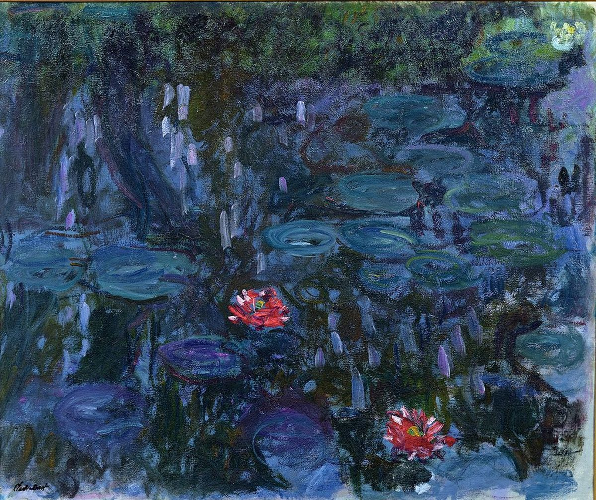 Water Lilies and Reflections of a Willow (1916–19)