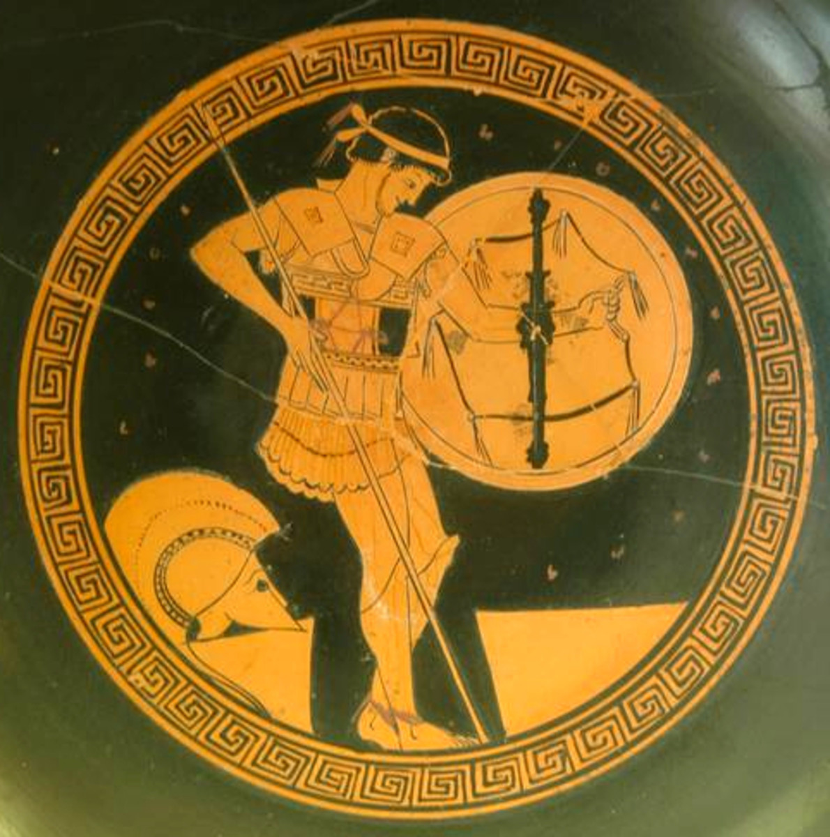 Greek hoplite or foot-soldier during the fifth century BCE.