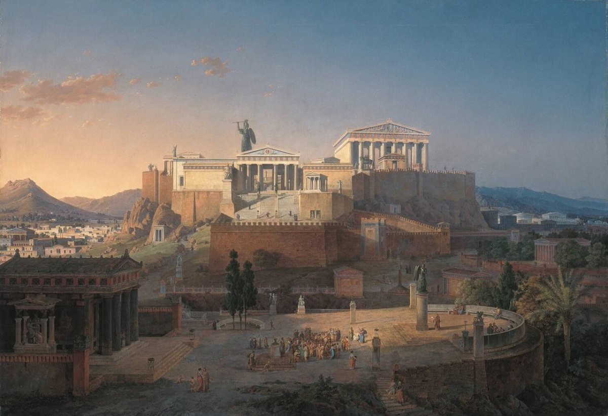 Artist's rendition of what ancient Athens looked like during the Golden Age of Athens. Painting by Leo von Klenze, 1846.