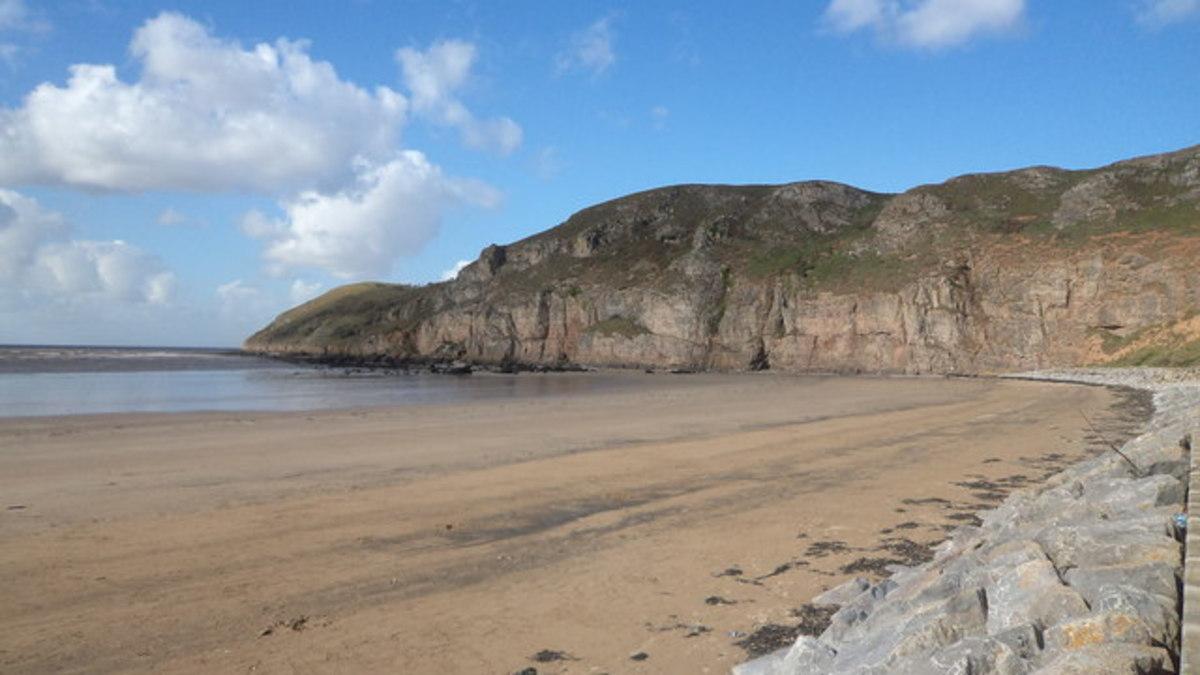South Face cliffs of Brean Down