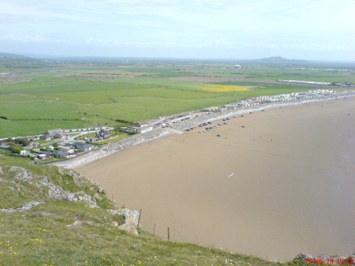Interesting  England: Somerset; from Brean Down to Brent Knoll; a stretch of coastline & countryside