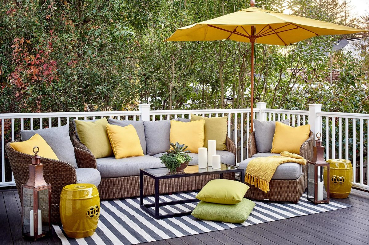 Whether you're lounging outdoors, make it durable outdoor furniture and decor.