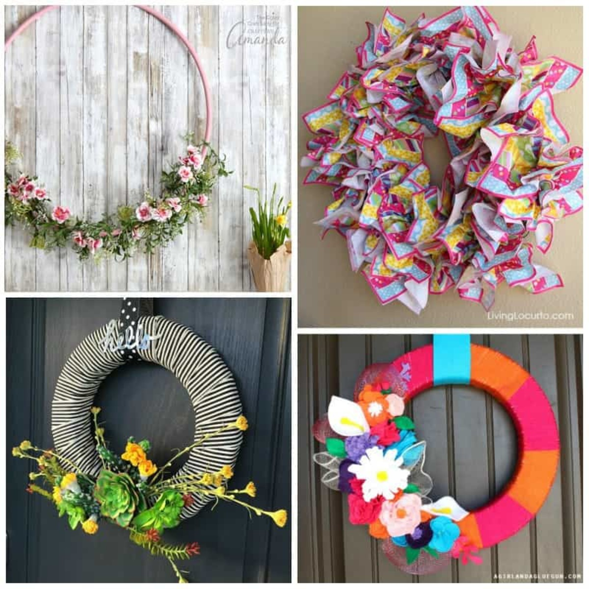 Summer wreaths are pops of color and a bit of different kinds of your front door.