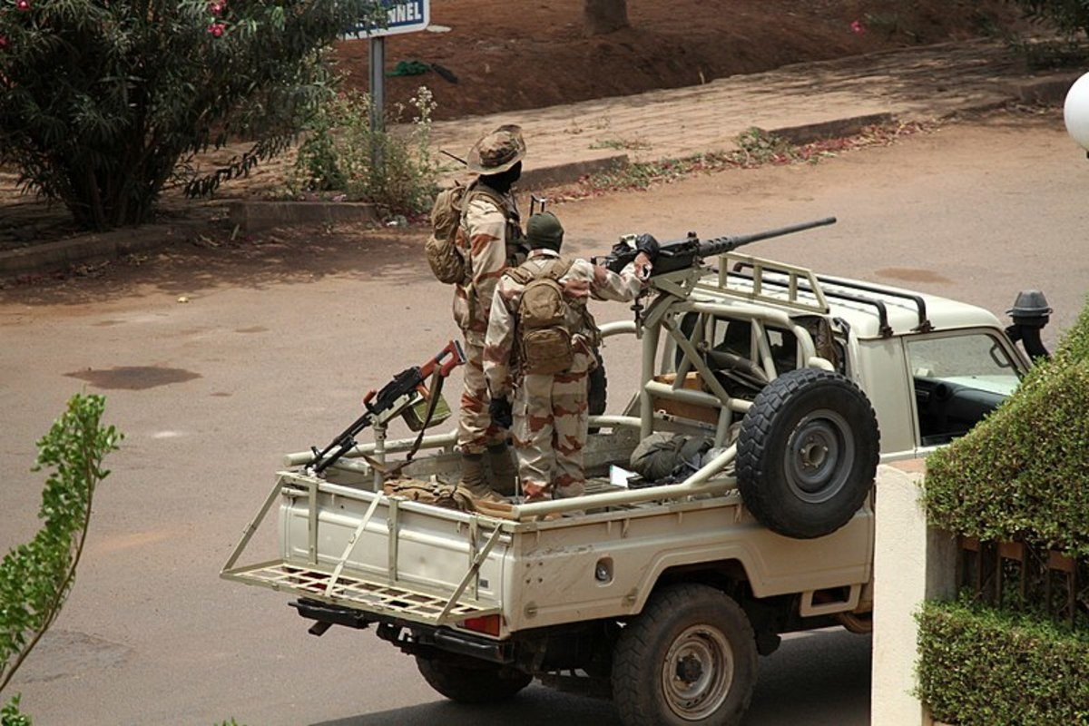 Malian soldiers in Bamako during 2012 coup