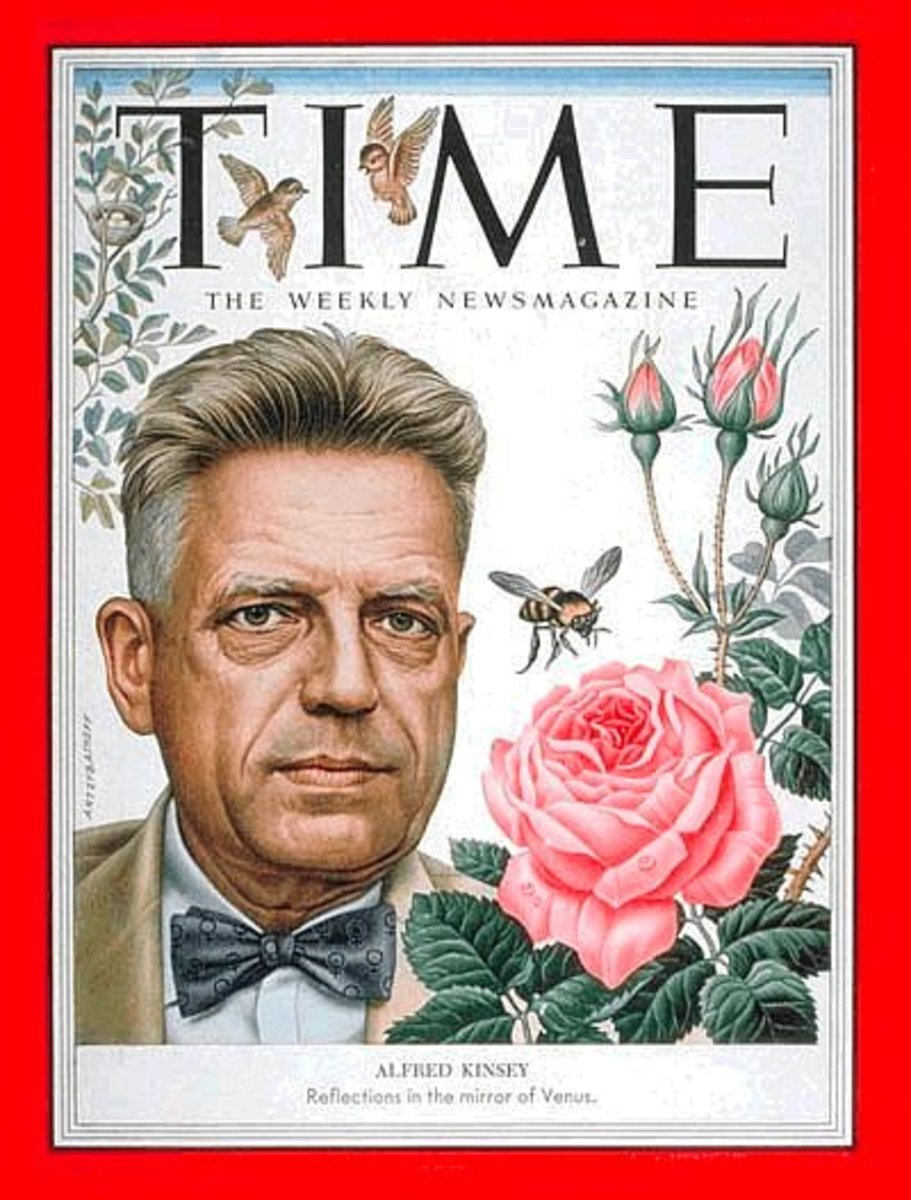 "ALFRED KINSEY ON THE COVER OF ""TIME"" MAGAZINE"