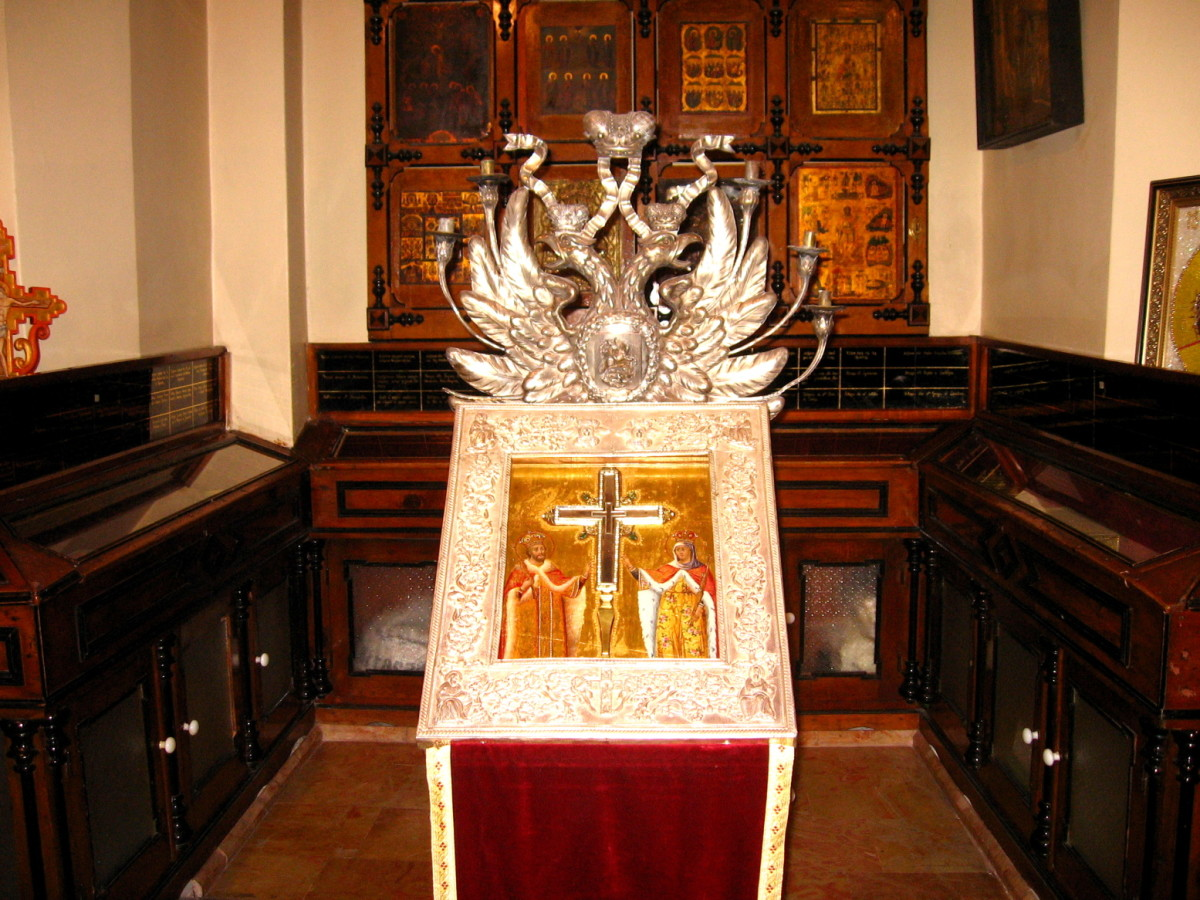 RELIQUARY OF THE TRUE CROSS IN THE CHURCH OF THE HOLY SEPULCHRE