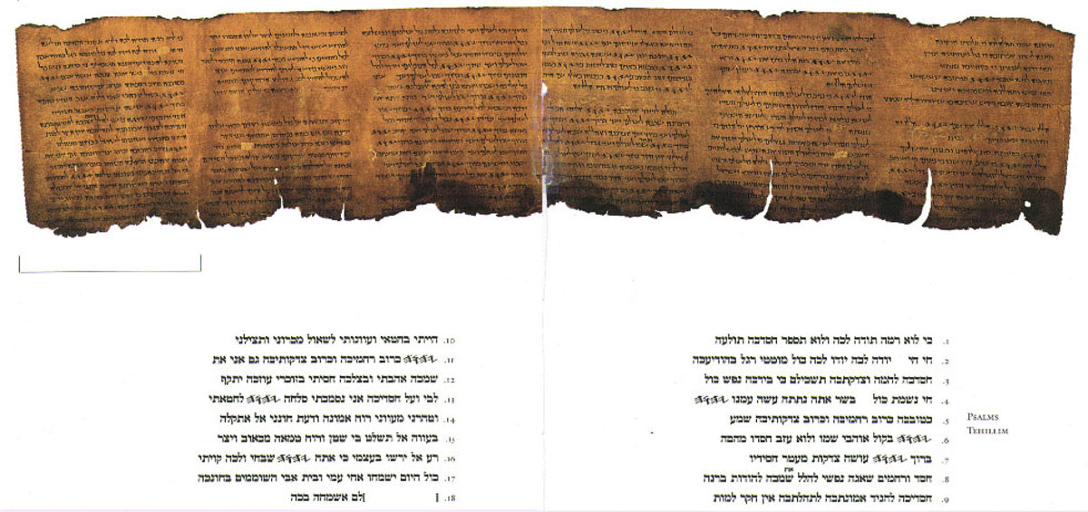 SECTION OF PSALMS FROM THE DEAD SEA SCROLLS