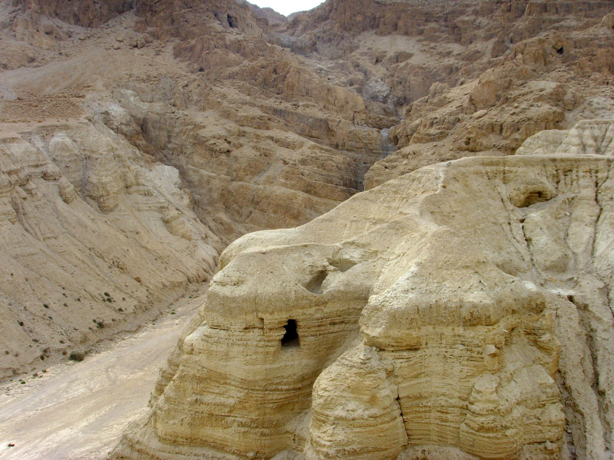 CAVES OF QUMRAN WHERE THE DEAD SEA SCROLLS WERE FOUND