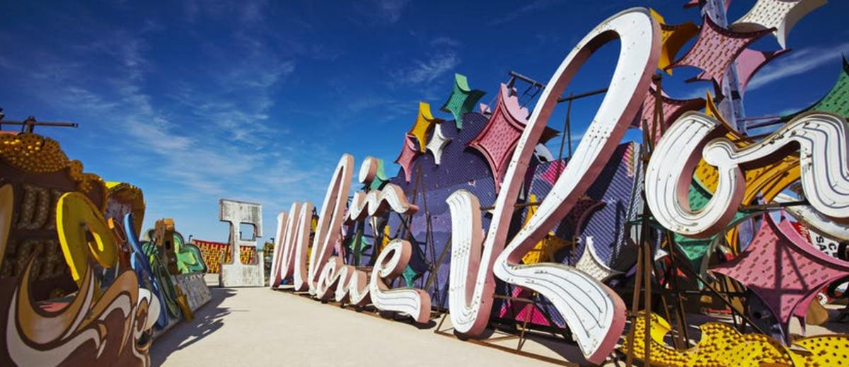 "The Neon Museum or ""Neon Boneyard"" in Las Vegas."